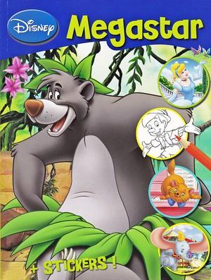 Walt Disney Coloring libri - Disney Megastar + Stickers