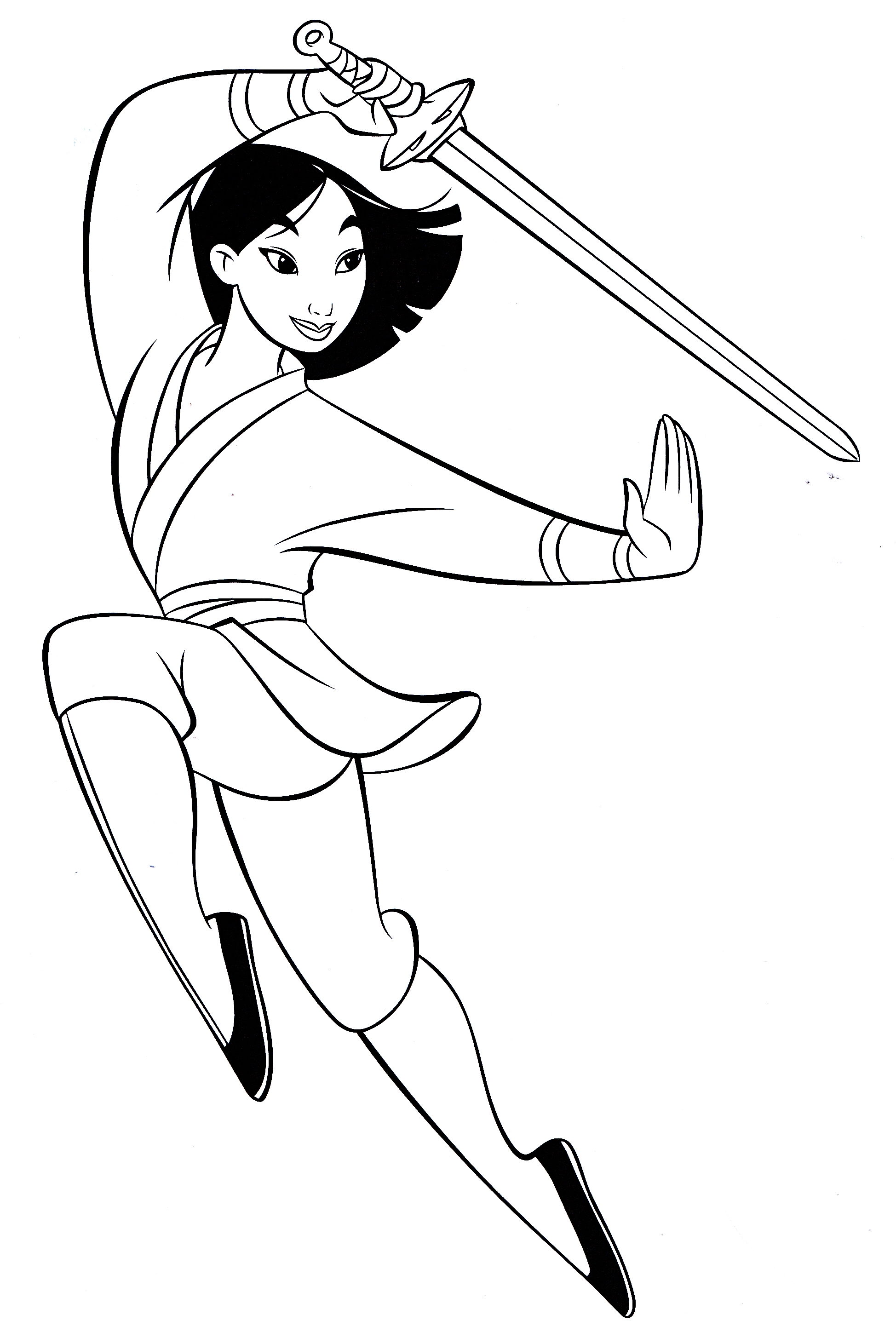 Walt Disney Characters Images Walt Disney Coloring Pages Mulan Coloring Page