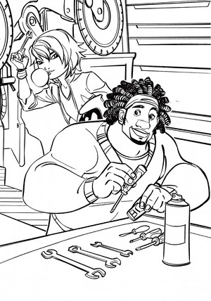 Walt Disney Coloring Pages - Go Go Tomago & Wasabi