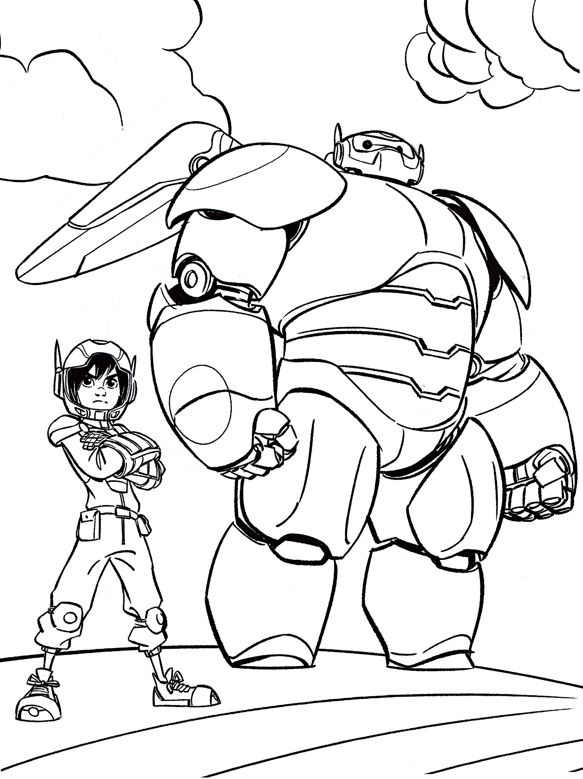 Big Hero 6 Coloring Coloring Pages