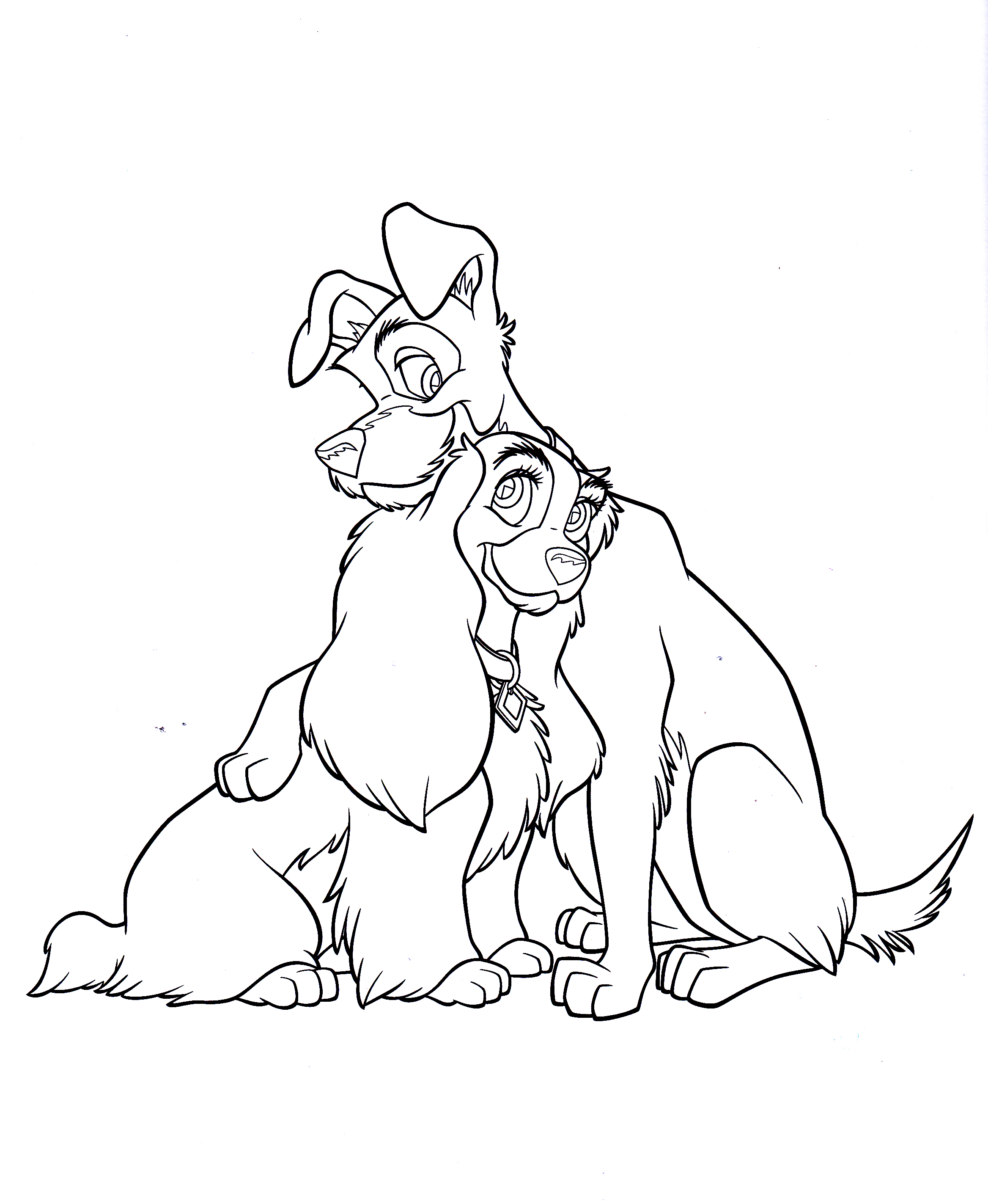 Disney Coloring Pages Lady And The Tramp : Walt disney characters images coloring pages