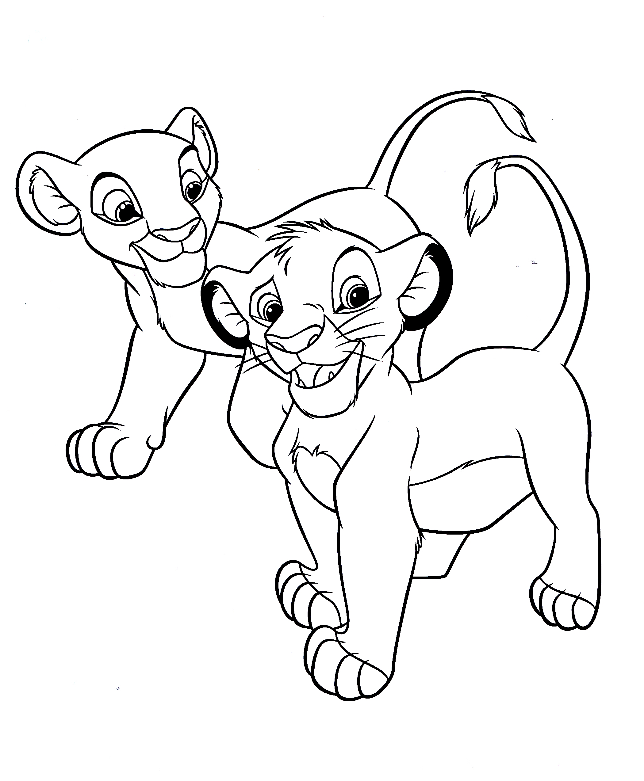 Walt Disney Coloring Pages - Nala & Simba