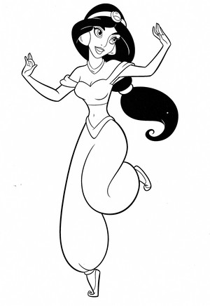 Walt Disney Coloring Pages - Princess jasmijn