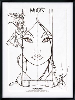 Walt डिज़्नी प्रशंसक Art - Mushu, Fa मूलन & Cri-Kee