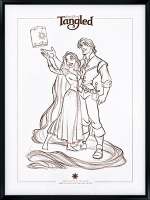 Walt Disney fan Art - Princess Rapunzel & Eugene Fitzherbert