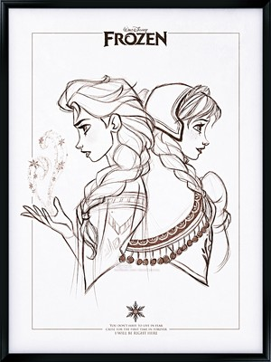 Walt Disney shabiki Art - Queen Elsa & Princess Anna