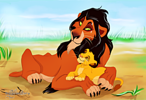 Walt Disney fan Art - Scar & Simba
