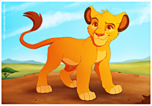 Walt Disney fan Art - Simba