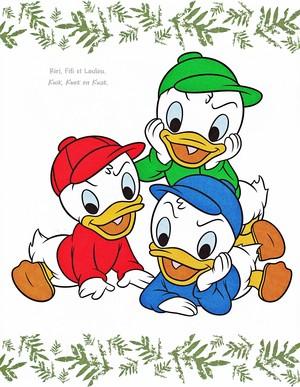 Walt disney imagens - Huey Duck, Dewey pato & Louie pato