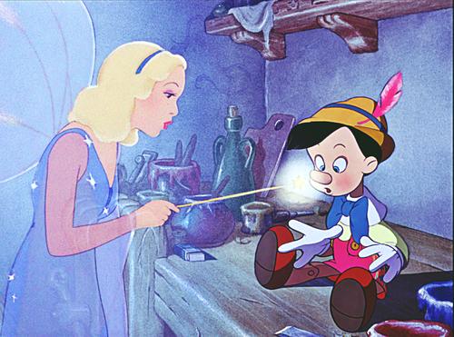 personnages de Walt Disney fond d'écran with animé entitled Walt Disney Screencaps - The Blue Fairy & Pinocchio