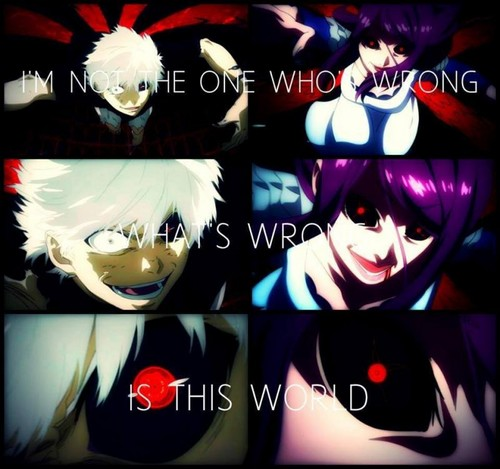 Tokyo Ghoul (Токийский гуль) Обои titled What's wrong, is this world
