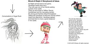 Wreck-It Ralph 2 Storyboard of Ideas 2