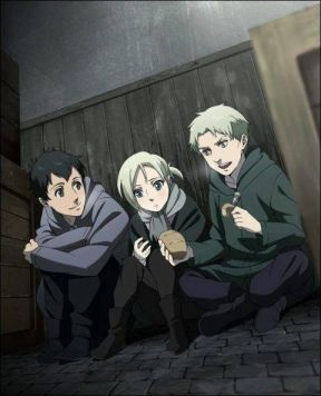 Shingeki no Kyojin (Attack on titan) wallpaper possibly containing a sign titled Young RBA Trio