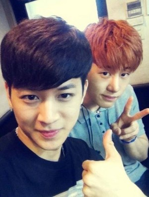 Yunhyeong and B.I Selca