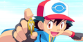 ash win freeze batch - pokemon photo