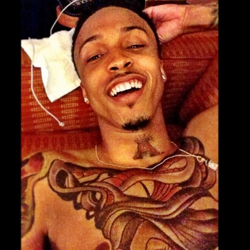 Facebook wallpaper possibly with anime titled august alsina