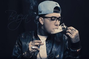 baeza is smooking out of a 100$