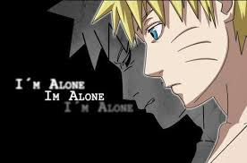 uzumaki naruto (shippuuden) wallpaper containing animê called depressin quote