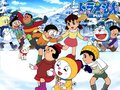 Doraemon in winter