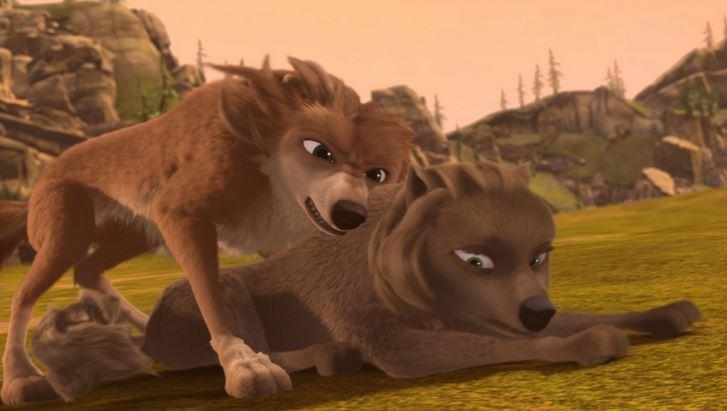garth and a भेड़िया