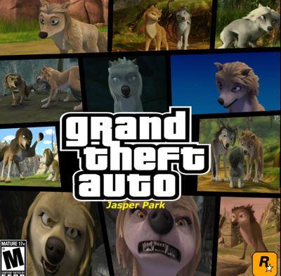 Alpha and Omega 4: The Legend of Saw Tooth Cave karatasi la kupamba ukuta probably containing anime called grand theft auto