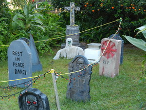 graveyard with ghoul