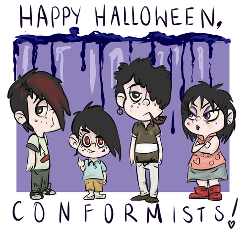 south park goth kids wallpaper with anime called happy halloween - Happy Halloween Com