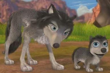 Alpha and Omega 4: The Legend of Saw Tooth Cave karatasi la kupamba ukuta called humphery and runt