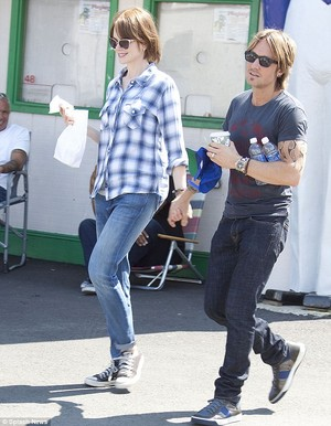 Keith and Nicole on the set of The Family Fang