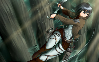 Shingeki no Kyojin (Attack on titan) achtergrond called mikasa ackerman