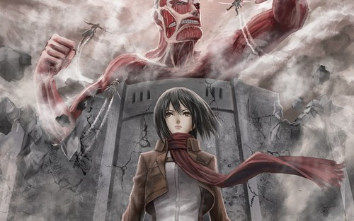 Shingeki no kyojin attack on titan gambar mikasa ackerman hd shingeki no kyojin attack on titan wallpaper titled mikasa ackerman voltagebd Image collections