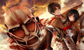 mikasa and eren - shingeki-no-kyojin-attack-on-titan wallpaper