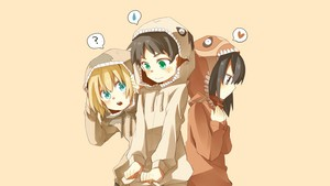 mikasa ,armin and eren