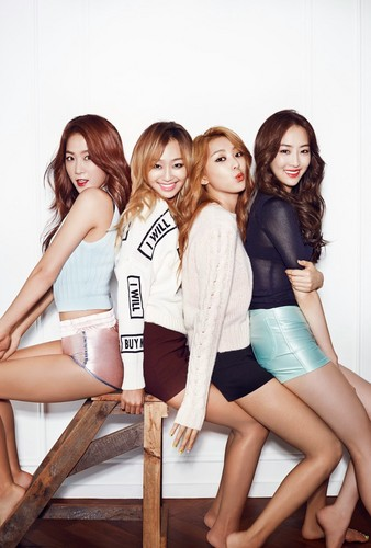 SISTAR (씨스타) wallpaper with bare legs, a leotard, and tights called Sistar for Ceci Magazine September Issue '14
