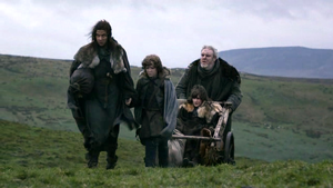 osha with bran, rickon and hodor