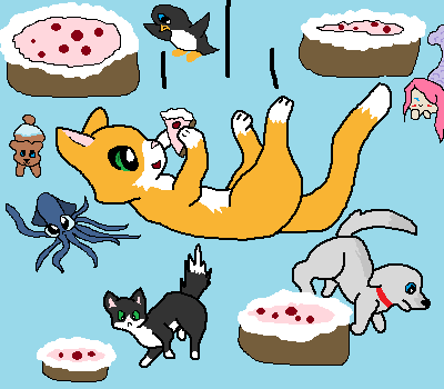 Stampylongnose Hintergrund probably with Anime called stampy cake's