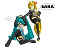 they look like sister who like to fight - hatsune-miku photo