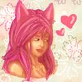 wolfy girl - anime-drawing photo