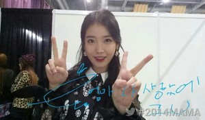 [2014 MAMA] IU at the back stage