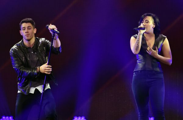 DECEMBER 5th - Demi Lovato performing at 102.7 KIIS FM's Jingle Ball in Los Angeles, CA.