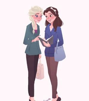 Elsa and Belle