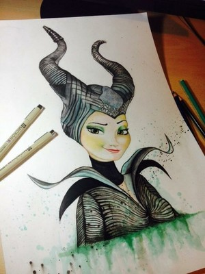 Elsa as Maleficent