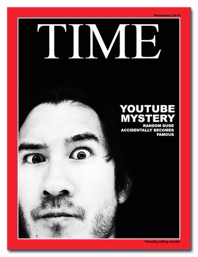 Markiplier karatasi la kupamba ukuta with anime called [Fake] Time Magazine Covers feat. Markiplier