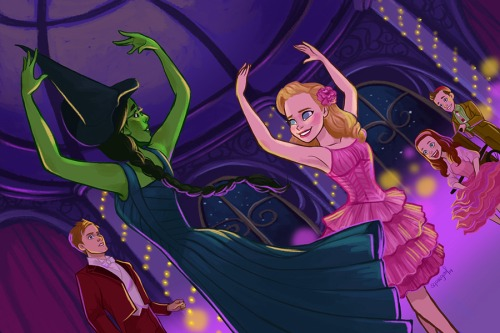 Wicked wallpaper probably with anime called                   Glinda and Elphaba
