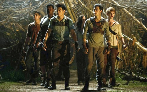 The Maze Runner Hintergrund with a rifleman, a green beret, and a navy dichtung titled Maze Runner