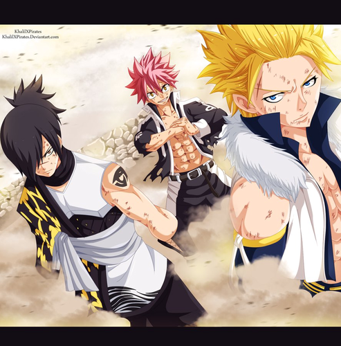 fairy tail wallpaper containing animê called *Rogue Natsu Sting Ready to Fight*