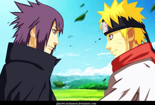 Uzumaki Naruto (Shippuuden) Hintergrund called *Sasuke / Naruto : Brothers*