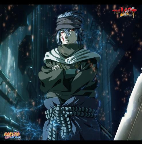 Naruto Shippuuden fond d'écran titled *Sasuke Uchiha :Naruto The Movie Last:*