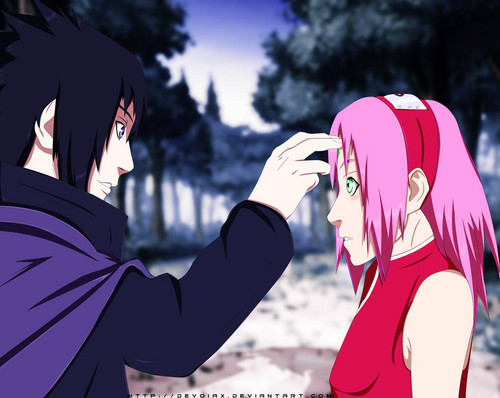 Naruto Shippuuden fond d'écran entitled *Sasuke X Sakura : Until We Meet Again*