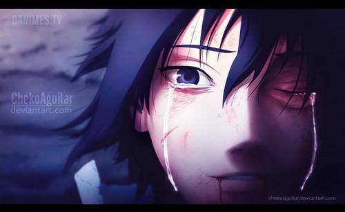 Naruto Shippuuden wallpaper entitled *Sasuke's Tears*